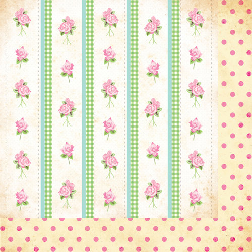 Bazzill Basics - Margie Romney-Aslett - Vintage Marketplace Collection - 12 x 12 Double Sided Paper - Vintage Wallpaper