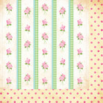 Bazzill - Margie Romney-Aslett - Vintage Marketplace Collection - 12 x 12 Double Sided Paper - Vintage Wallpaper