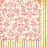 Bazzill - Margie Romney-Aslett - Vintage Marketplace Collection - 12 x 12 Double Sided Paper - Feather Brocade