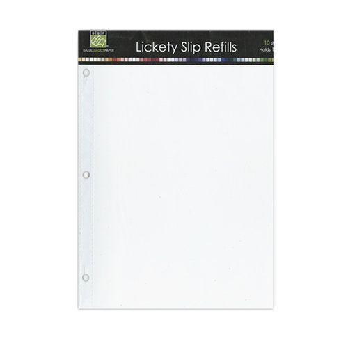Bazzill - Lickety Slip - 9 x 12 D-Ring Album Refills - 10 Pack