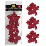 Bazzill - Paper Flowers - 2 Inch Twisted Flower - Ruby Slipper