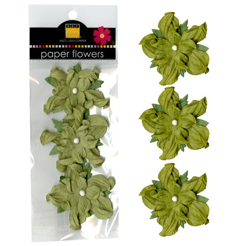 Bazzill Basics - Paper Flowers - 2 Inch Twisted Flower - Celery