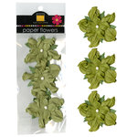Bazzill - Paper Flowers - 2 Inch Twisted Flower - Celery