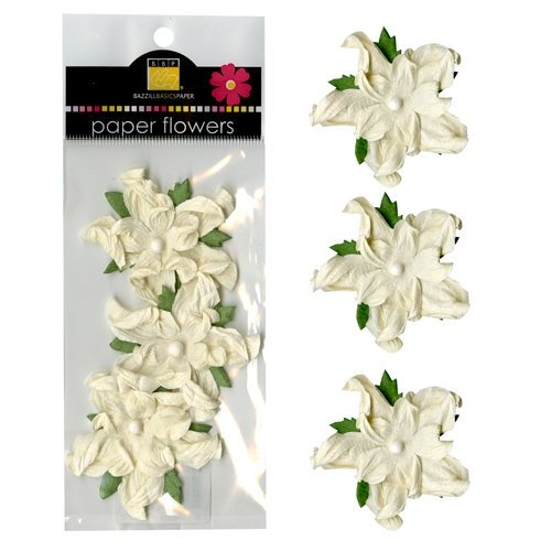 Bazzill Basics - Paper Flowers - 2 Inch Twisted Flower - Natural