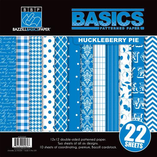 Bazzill Basics - Basics Collection - 12 x 12 Assortment Pack - Huckleberry Pie