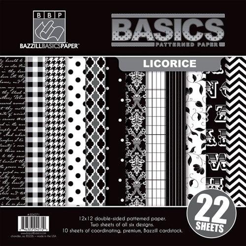 Bazzill Basics - Basics Collection - 12 x 12 Assortment Pack - Licorice