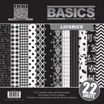 Bazzill Basics - Basics Collection - 12 x 12 Assortment Pack - Licorice
