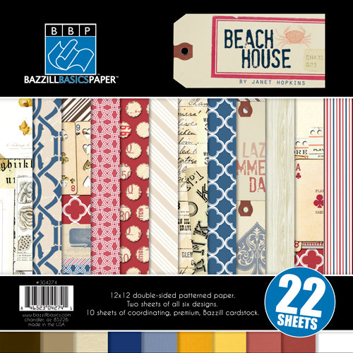 Bazzill - Beach House Collection - 12 x 12 Assortment Pack