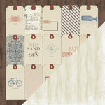 Bazzill Basics - Beach House Collection - 12 x 12 Double Sided Paper - House Tags