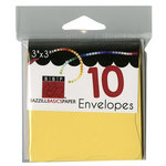 Bazzill - Cards and Envelopes - 10 Pack - 3 x 3 Bracket - Sunbeam