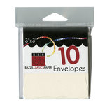Bazzill - Cards and Envelopes - 10 Pack - 3 x 3 Bracket - Cream Puff