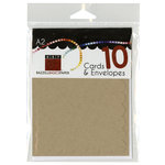 Bazzill - Cards and Envelopes - 10 Pack - A2 Scallop - Kraft