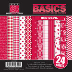 Bazzill - Basics Collection - 6 x 6 Assortment Pack - Red Devil