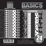 Bazzill - Basics Collection - 6 x 6 Assortment Pack - Licorice