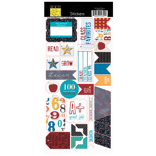 Bazzill Basics - School Days Collection - Cardstock Stickers