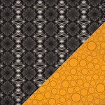 Bazzill - All Hallows Eve Collection - Halloween - 12 x 12 Double Sided Paper - Spider Damask