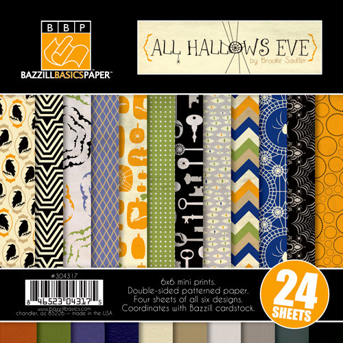 Bazzill - All Hallows Eve Collection - Halloween - 6 x 6 Assortment Pack
