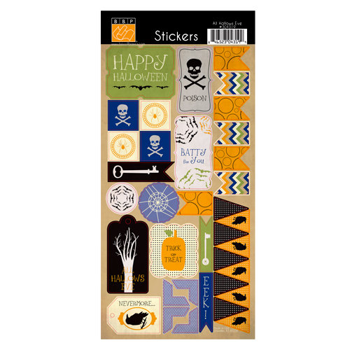 Bazzill - All Hallows Eve Collection - Halloween - Cardstock Stickers