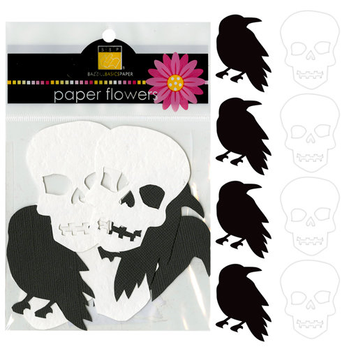 Bazzill - Paper Shapes - Crows and Skulls