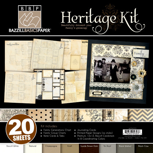 Bazzill - Heritage Collection - 12 x 12 Kit