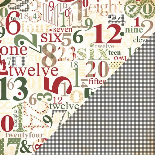 Bazzill Basics - Margie Romney-Aslett - Believe Collection - Christmas - 12 x 12 Double Sided Paper - Countdown to Christmas