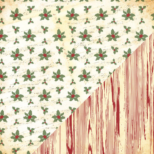 Bazzill - Margie Romney-Aslett - Believe Collection - Christmas - 12 x 12 Double Sided Paper - Happy Holidays