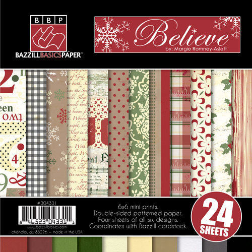 Bazzill - Margie Romney-Aslett - Believe Collection - Christmas - 6 x 6 Assortment Pack