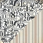 Bazzill Basics - Margie Romney-Aslett - Timeless Collection - 12 x 12 Double Sided Paper - Numbers