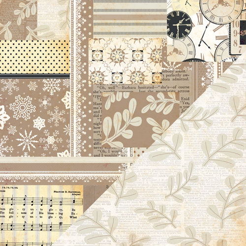 Bazzill Basics - Margie Romney-Aslett - Timeless Collection - 12 x 12 Double Sided Paper - Pieced
