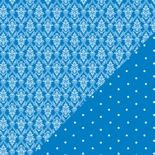 Bazzill Basics - Basics Collection - 12 x 12 Double Sided Paper - Huckleberry Pie - Wallpaper