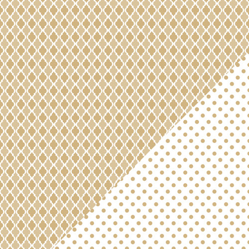 Bazzill Basics - Basics Collection - 12 x 12 Double Sided Paper - Kraft - Mosaic