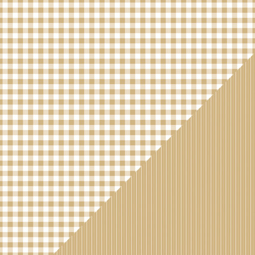 Bazzill Basics - Basics Collection - 12 x 12 Double Sided Paper - Kraft - Picnic Plaid