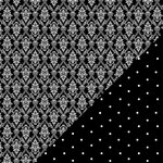 Bazzill - Basics Collection - 12 x 12 Double Sided Paper - Licorice - Wallpaper