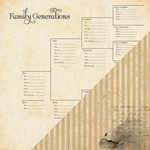 Bazzill - Heritage Collection - 12 x 12 Double Sided Paper - Generations Chart