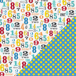 Bazzill - School Days Collection - 12 x 12 Double Sided Paper - Numbers