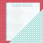 Bazzill - School Days Collection - 12 x 12 Double Sided Paper - Class Notes