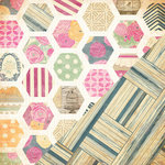 Bazzill - Miss Teagen Sue Collection - 12 x 12 Double Sided Paper - Teagen's Quilt