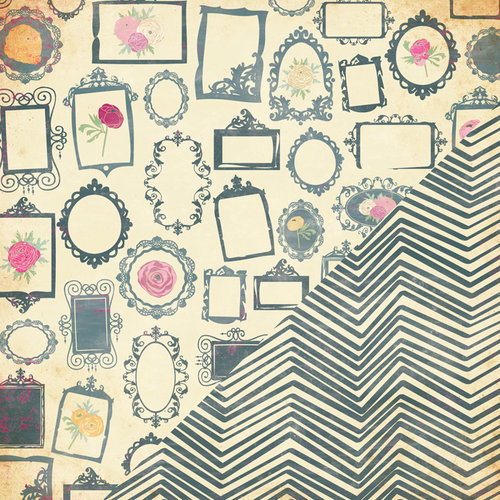 Bazzill Basics - Miss Teagen Sue Collection - 12 x 12 Double Sided Paper - Gallery