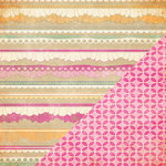 Bazzill - Miss Teagen Sue Collection - 12 x 12 Double Sided Paper - Ruffle Trim