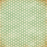 Bazzill - Miss Teagen Sue Collection - 12 x 12 Paper - Faded Green Polka Dots