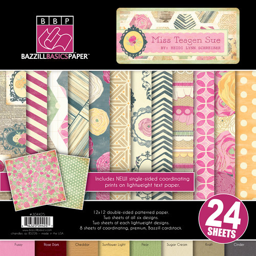 Bazzill - Miss Teagen Sue Collection - 12 x 12 Assortment Pack