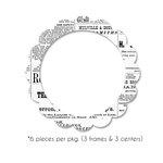 Bazzill - Antique Chipboard Frames - Circle