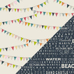 Bazzill Basics - Lucy's Crab Shack Collection - 12 x 12 Double Sided Paper - Clam Bake
