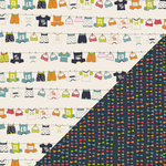 Bazzill Basics - Lucy's Crab Shack Collection - 12 x 12 Double Sided Paper - Clothesline