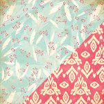 Bazzill - Margie Romney Aslett - Ambrosia Collection - 12 x 12 Double Sided Paper - Feather Berry