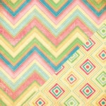Bazzill - Margie Romney Aslett - Ambrosia Collection - 12 x 12 Double Sided Paper - Detailed Chevron