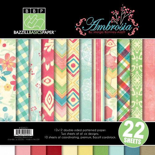 Bazzill Basics - Margie Romney Aslett - Ambrosia Collection - 12 x 12 Assortment Pack