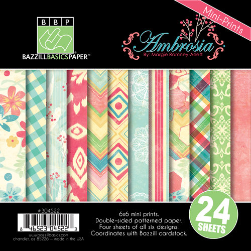 Bazzill - Margie Romney Aslett - Ambrosia Collection - 6 x 6 Assortment Pack