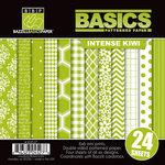 Bazzill Basics - Basics Collection - 6 x 6 Assortment Pack - Intense Kiwi