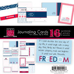 Bazzill Basics - Freedom Collection - Lickety Slip - 4 x 6 Journaling Cards